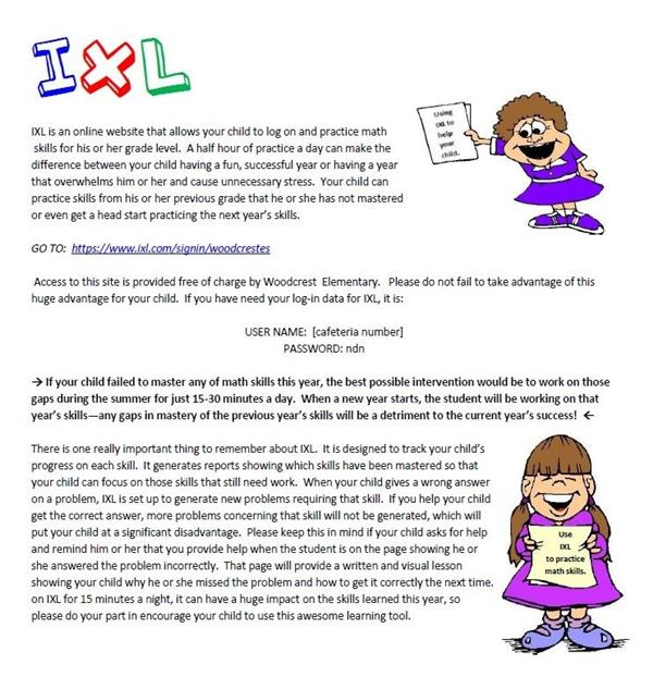 IXL Info for 2018-2019